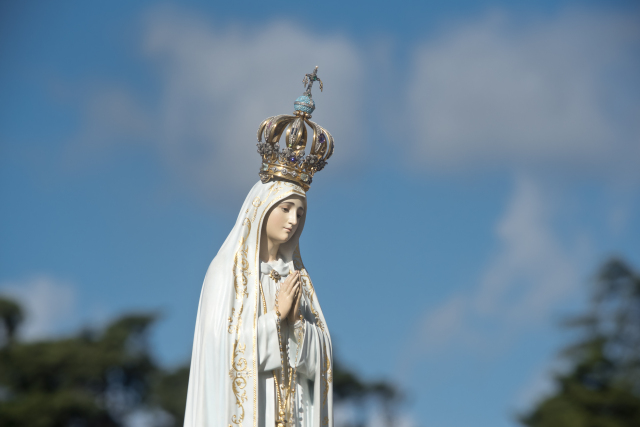 The,Image,Of,Our,Lady,Of,Fatima,In,The,Sanctuary